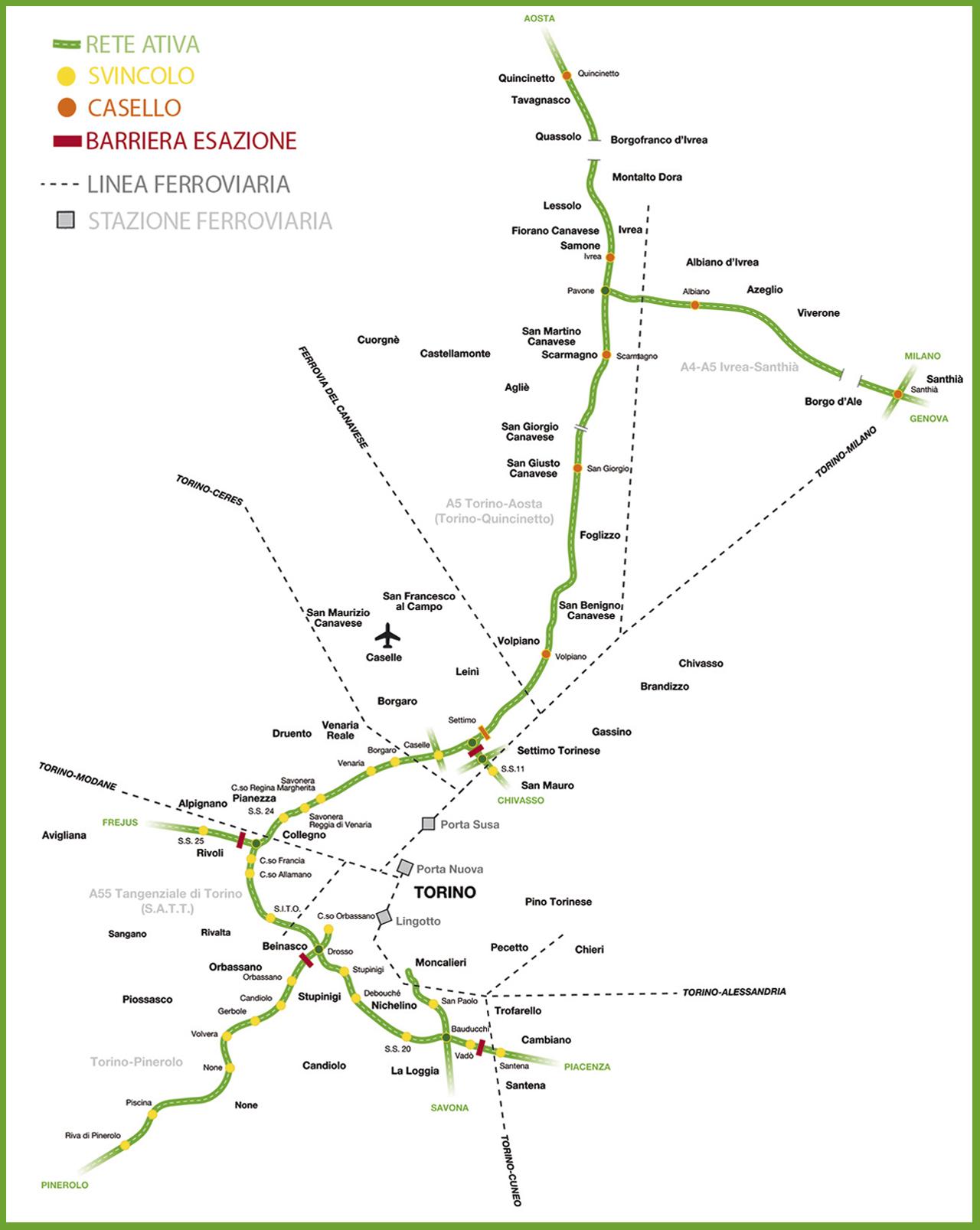 Rete con ferrovia - Ativa